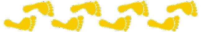 Frise pieds jaunes
