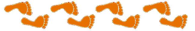Frise pieds oranges