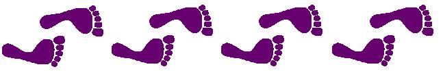 Frise pieds violets