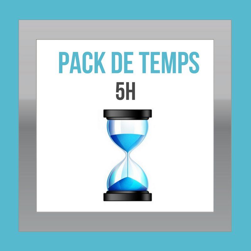 Packs de temps - DESIGN MY WEB Agency